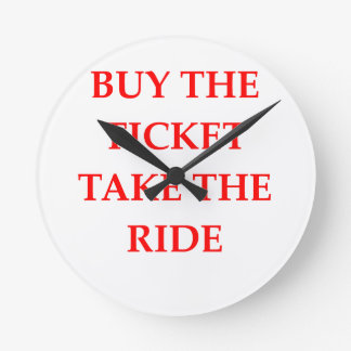 TICKET WALL CLOCK