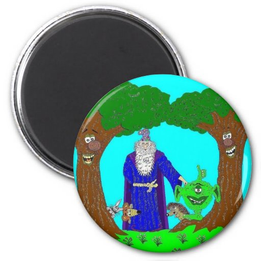 Tickety's Magic Wood Magnet