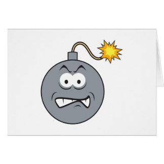 Ticking Bomb Smiley Face Card