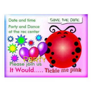 Tickle me Pink Postcard
