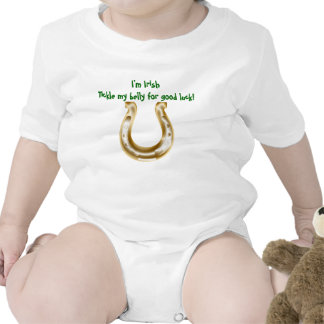 Tickle my belly for good luck I'm Irish Baby Bodysuit