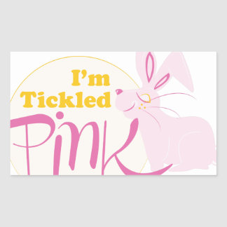Tickled Pink Rectangular Sticker