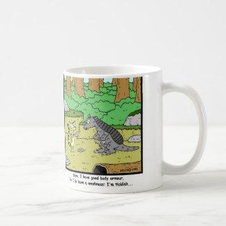 Ticklish: Armadillo Cartoon Coffee Mug