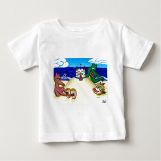Ticklish Dingo Buried at the Beach Baby T-Shirt