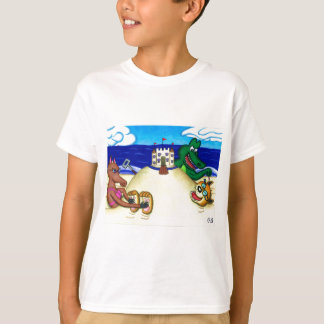 Ticklish Dingo Buried at the Beach T-Shirt