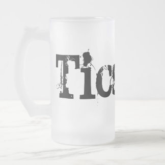 Ticstyle beers frosted glass beer mug