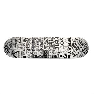 TID Text Deck Skate Boards