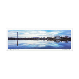 Tidal Basin- Winter Afternoon- Panoramic Canvas Print