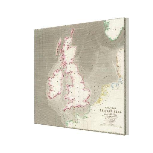 Tidal chart British Seas Canvas Prints