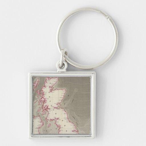 Tidal chart British Seas Keychains
