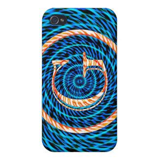 Tidal Spiral Blue Monogram G iPhone 4 Cases