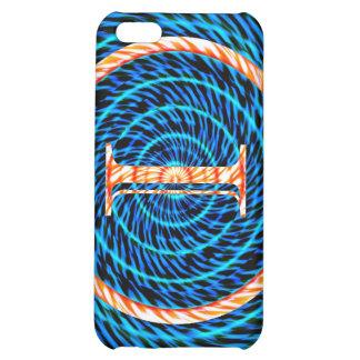 Tidal Spiral Blue Monogram I Case For iPhone 5C