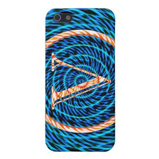 Tidal Spiral Blue Monogram V Case For iPhone 5
