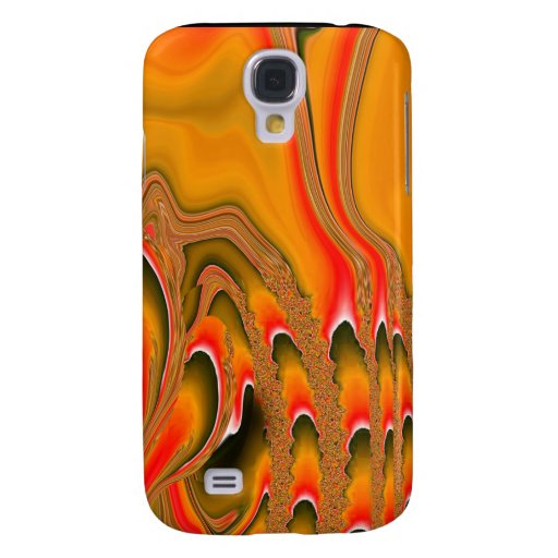 Tidal Wave 3G iPhone Skin (irridescent gold/red) Galaxy S4 Cover