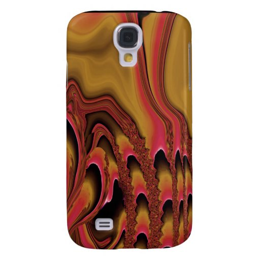 Tidal Wave 3G iPhone Skin (irridescent gold/rust) Galaxy S4 Case