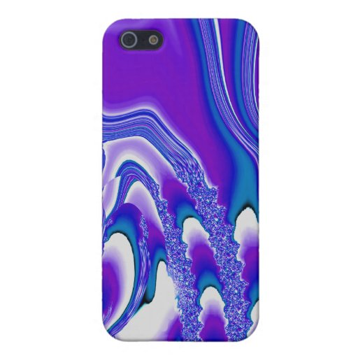 Tidal Wave - Designer iPhone 4 (blue/purple) iPhone 5 Covers