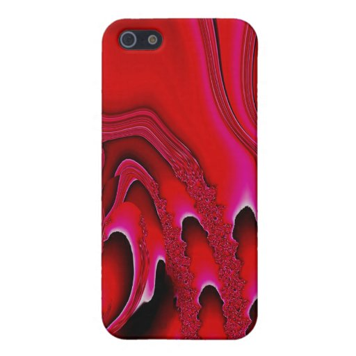Tidal Wave - Designer iPhone 4 Skin (vermillion) iPhone 5 Covers