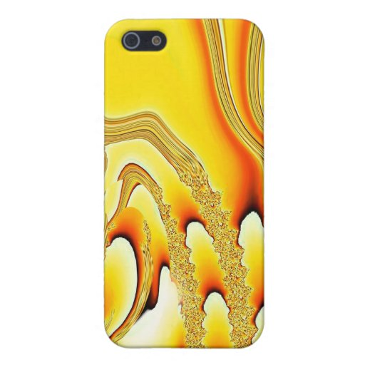 Tidal Wave - Designer iPhone 4 (yellow) iPhone 5 Cover
