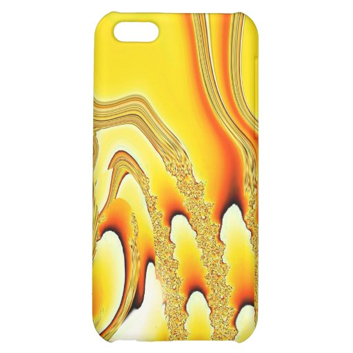 Tidal Wave - Designer iPhone 4 (yellow) Case For iPhone 5C