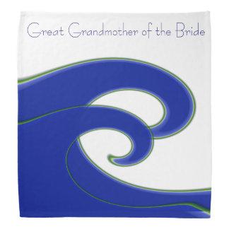 Tidal Wave GREAT GRANDMOTHER OF THE BRIDE Kerchiefs
