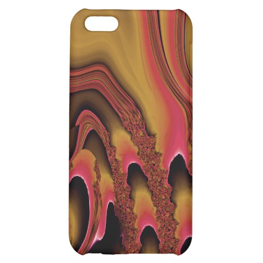 Tidal Wave iPhone 4 Skin (irridescent gold/rust) iPhone 5C Covers