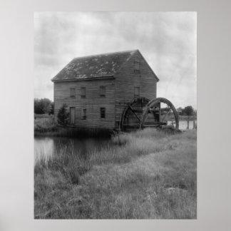 Tide Mill at Poplar Grove Poster