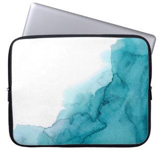 Tide Ocean Blue Watercolour Laptop Sleeve