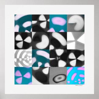 Tide Pool Grid 1, Digital Quilt (hi-res print)