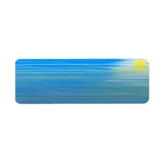 Tide Pool Return Address Label