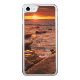 Tide pools at sunset, California Carved iPhone 7 Case