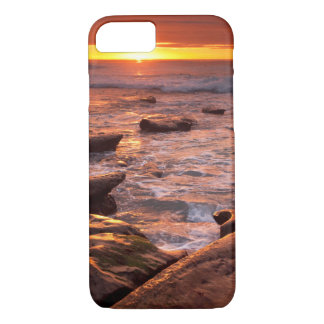 Tide pools at sunset, California iPhone 8/7 Case