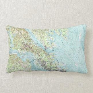 Tidewater Virginia Map (1984) Lumbar Cushion