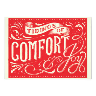 Tiding of Comfort and Joy Christmas Card