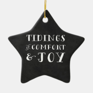 Tidings of Comfort and Joy Christmas Ornament