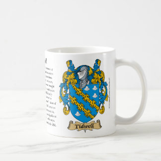 Tidwell, the Origin, the Meaning and the Crest Mug