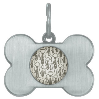 Tie a background pet ID tag