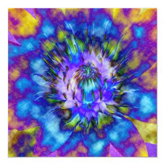 Tie Die Water Lily Design Card