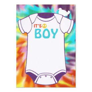 "Tie Dye Baby Shower Invitations Boys 5"" X 7"" Invitation Card"