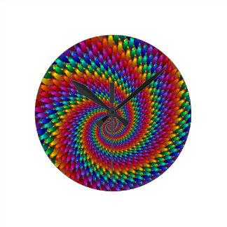 Tie Dye Basic Round Clock