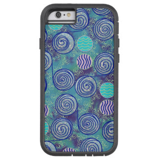 Tie Dye Blue Circles Pattern Tough Xtreme iPhone 6 Case