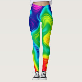 Tie Dye Colorful Rainbow Leggings