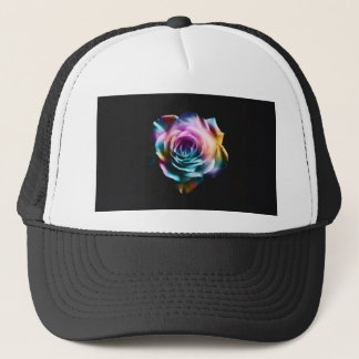 Tie Dye Colorful Rose Trucker Hat