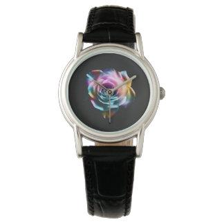 Tie Dye Colorful Rose Women's watch