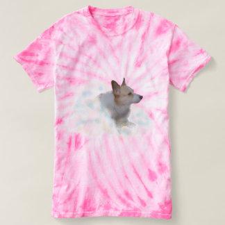 Tie Dye Corgi in the Clouds T-Shirt