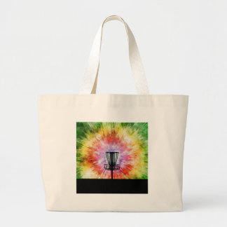 Tie Dye Disc Golf Basket Large Tote Bag