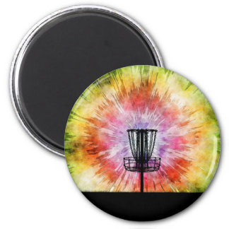 Tie Dye Disc Golf Basket Magnet
