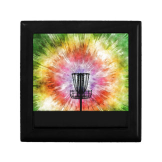 Tie Dye Disc Golf Basket Small Square Gift Box