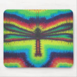 Tie Dye Dragonfly Mouse Pad