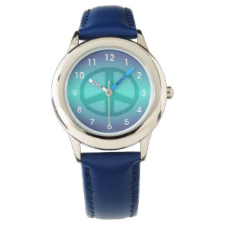 Tie Dye Effect Peace Sign Wrist Watches
