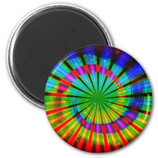 Tie-Dye Groovy Rainbow 6 Cm Round Magnet